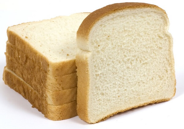 ejemplo de pan blanco procesado